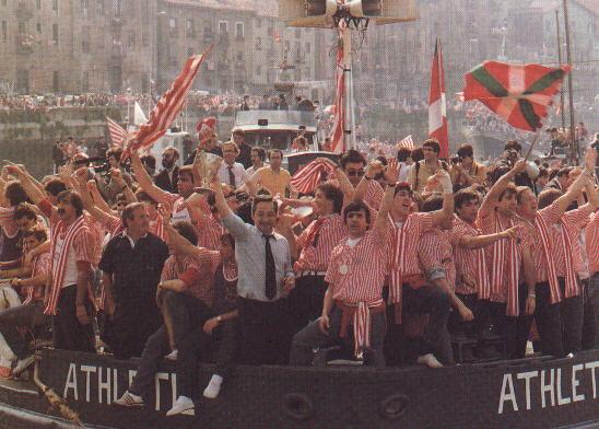 Primera salida de la Gabarra del Athletic de Bilbao (1983)
