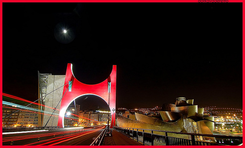Bilbao - Puente de La Salve de noche