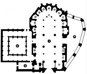 Plano de la Catedral de Santiago (Bilbao)