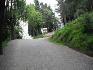 Camino de ascenso al Pagasarri: Cruce en el Pagasarri